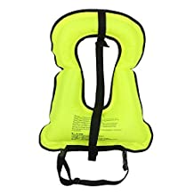 LeaningTech Adult Inflatable Life Vest Jacket Great for Snorkeling Surfing Swimming Boating Kayaking Fishing Rafting and Floating,Ensure your Safety of Water activities