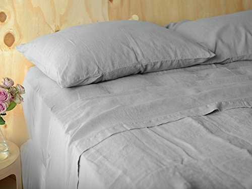 Lausonhouse Luxurious 100% Pure French Linen Sheet Set - Queen