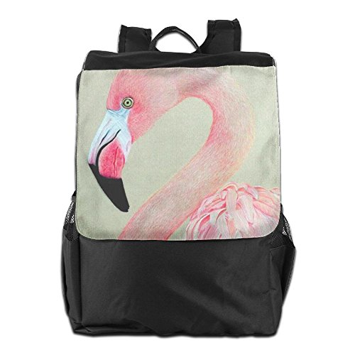 And School Adjustable Strap Women Backpack For HSVCUY Men Storage Pink Camping Personalized Travel Shoulder Flamingo Outdoors Dayback xwZBHRF