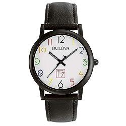 Bulova Men's 98A103 Frank Lloyd Wright White Dial Watch