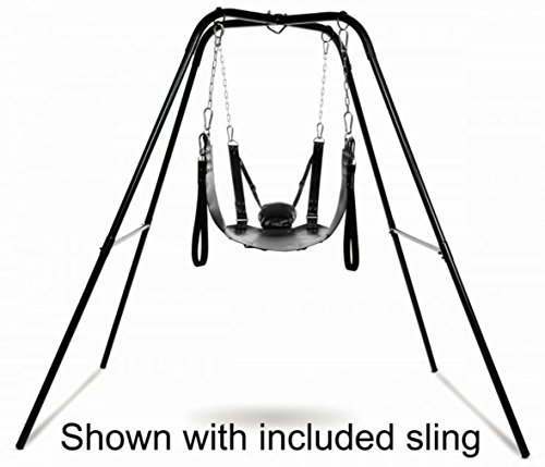 Price comparison product image New Extreme Leather Sex Sling and Sex Swing Stand Kit - For a Different Way to Play!