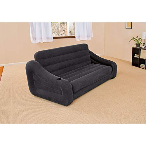 Intex Pull Out Sofa - Sofá (Negro, Negro)
