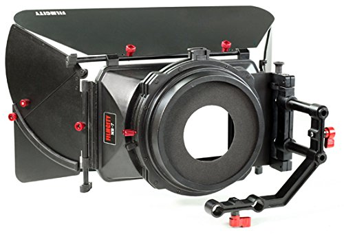 FILMCITY MB-7 Professional Swing Away Wide Angle Sunshade Camera Mattebox O/D 138mm for 15mm Rail Rods for Video, Camcorder, DSLR Camera Rigs & Cages | for Sony Nikon Canon BMCC Panasonic (FC-MB-7) by FILMCITY