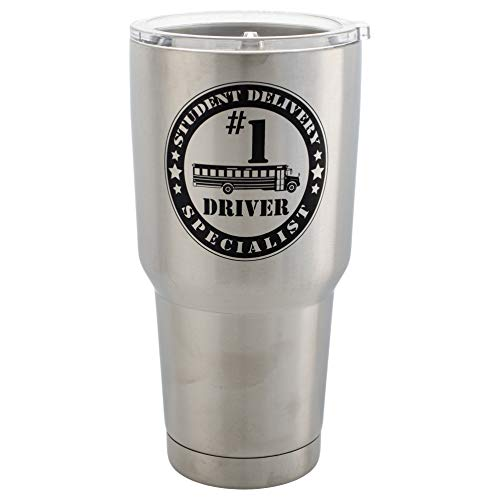 #1 Bus Driver Student Delivery Special 30 Oz Stainless Steel Travel Mug with - Bus Driver Mug