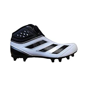 adidas Men's Malice 2 Fly Wide Football Cleats (11 Wide, Running White/Black/Metallic Silver)
