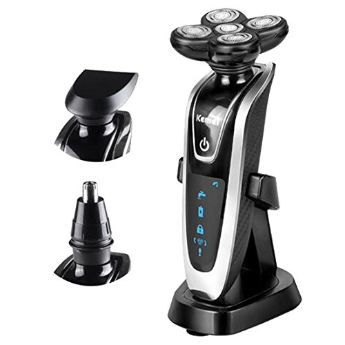 Osave Mens Rechargeable 4D Electric Rotary Electric Shaver Wet/Dry Men's USB Rechargeable Shavers 3 in 1 Waterproof Razor