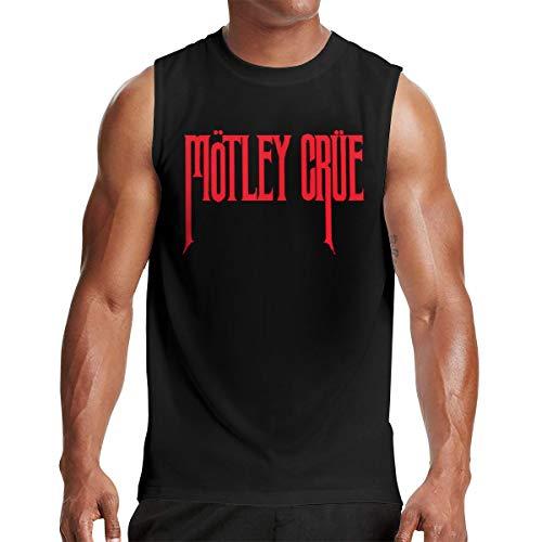 (Rodney L Robbins Motley Crue Logo Men Fashion Mandatory Sleeveless Muscle Tee Tank Vest L Black)