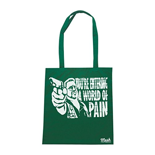 Borsa You'Re Entering A World Of Pain Walter The Big Lebowski - Verde Bottiglia - Film by Mush Dress Your Style