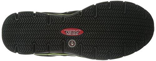 Skechers for Work Men's Synergy Ekron Work Shoe,Black/Lime,11 W US by Skechers (Image #3)