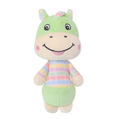 Anniston Kids Toys, Cute Animal Plush Hand Bell Rattle Ring Baby Infant Early Educational Doll Toy Baby Toys Perfect Fun Time Play Activity Gift for Boys Girls, Horse#: Toys & Games