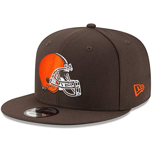New Era Cleveland Browns Hat NFL Brown 9FIFTY Snapback Adjustable Cap Adult One Size (Cap Cleveland Browns)