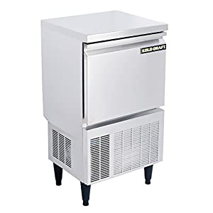 Kold Draft KD-70 Commercial and Residential Clear Ice Maker Machine Produces Up to 82 Pounds Per Day of Large Tophat Cubes 1in x 1in x 1.25in for Premium Cocktails and Beverages, 19.7in Wide, Silver