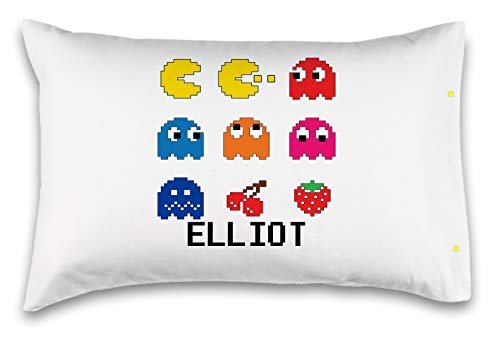 Customizable,Pac-Man Arcade Pillowcase. Personalized With Your Childs Name - Perfect Gift For Boys And Girls Of All Ages! Xbox One Playstation 4 (Standard 20X30)