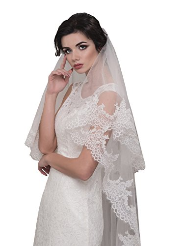 Bridal Veil Chloe from NYC Bride collection (mid-length 45'', white) by NYC Bride