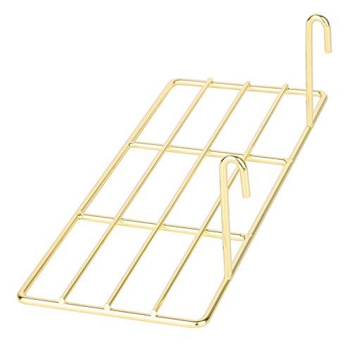 Simmer Stone Gold Straight Shelf for Wire Wall Grid Panel, Flower Pot Display Shelf Rack, Wire Organizer Storage for Wall Decor, Size 9.8 L x 3.9 W