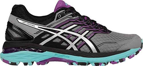 ASICS Women's GT-2000 5 Trail Runner, Aluminum/Silver/Orchid, 8.5 M US