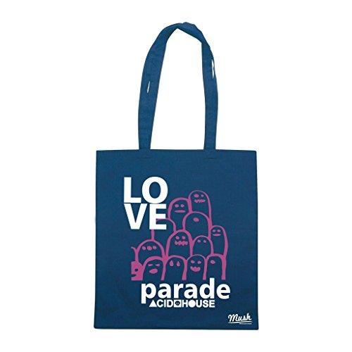 Borsa Love Parade Acid House - Blu Navy - Music by Mush Dress Your Style