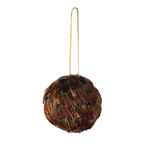 Pheasant Heart Feather Christmas Ornament - 3