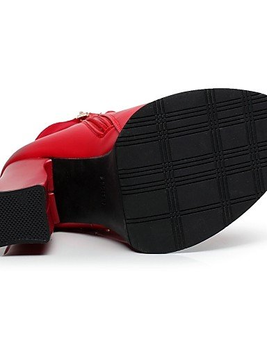 Red 5 Vestido Casual Puntiagudos A Black 5 us5 Plataforma Uk3 Eu36 5 Cn35 Zapatos Robusto Semicuero Botas Tacón Moda De La Vellón us5 Xzz Mujer negro 7PpxqUa8w