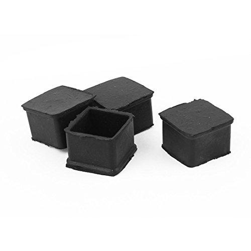 Square Furniture Table Chair Foot Leg End Tip Pad 4Pcs Black