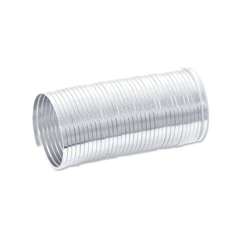 Wire Steel Plated Memory - Flat Ring Memory Wire Silver Plated Steel 1/3oz.