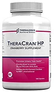 Theralogix TheraCran HP - Cranberry Supplement For Urinary Tract Support - NEW (180 caps)