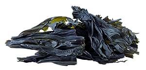 "Rahimaliorganic Organic Raw Wild Atlantic sugar kelp, Whole Leaf Seaweed, 5-8"" Lengths, From the Pristine Waters of the Coast of Maine (Sugar Kelp)"