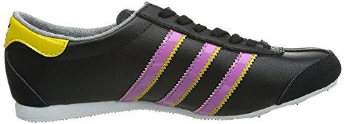 Adidas Aditrack basse da donna scarpe casual sportivo nero lilla, donna, Adidas Aditrack, black / lilac / yellow, 5,5 UK