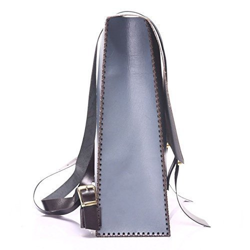 Soft Blue Leather Handmade Backpack