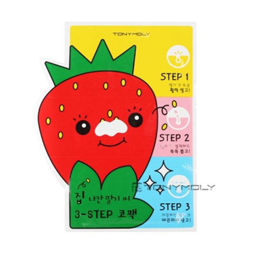 [Tonymoly] Mr.Strawberry Seed 3-step Nose Pack 6g by TONYMOLY