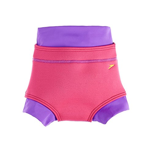 Speedo Baby Badeanzug Swimnappy Cover, Purple Rain/Raspberry Fill, 9-12, 8-092169215
