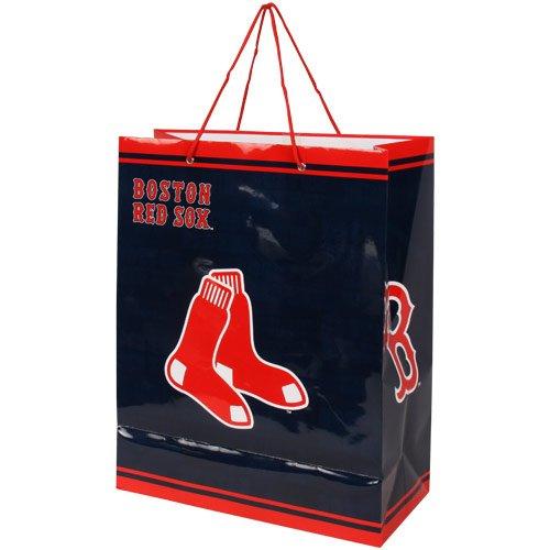 MLB Boston Red Sox Gift Bag, Large (Gift Sox Bag)