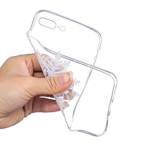 iPhone 7 / 8 Plus Custodia , Moda Fiocco Di Neve Silicone leggero Morbido TPU Sollievo Sottile Protezione Antiurto Copertura Antiscivolo Resistente Coperture Cover Case Custodia per Apple iPhone 7 / 8