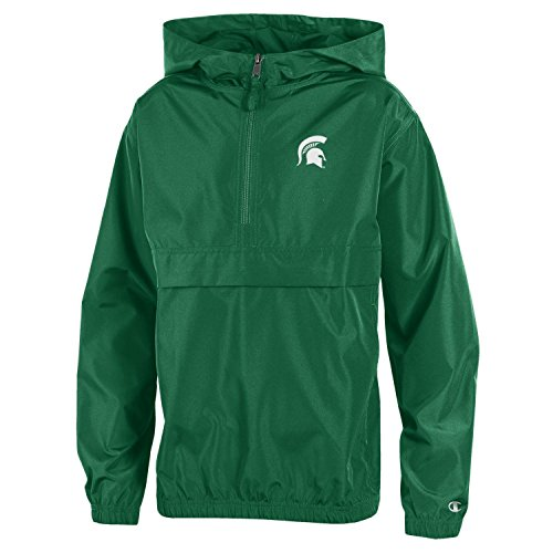 Champion NCAA Michigan State Spartans Youth Boys Packable Jacket, Large, Green