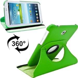 Degrees 360 Rotation Lichi Texture Funda Leather Case Cover lápiz para pantalla táctil, Holder para Samsung Galaxy Tab 3 7,0/) (P5210, P5200 y P5220 (Green)
