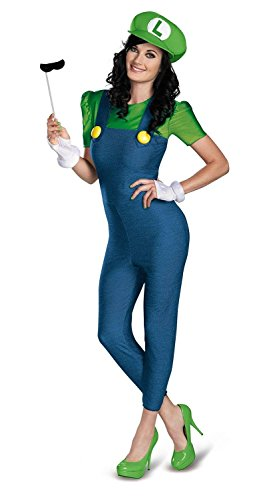 Disguise Womens Nintendo Bros Luigi Costume
