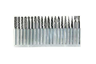 YUFUTOL-20pcs 1/8inch (3mm) Shank Solid Tungsten Carbide Double Cut Rotary Files Burrs Set With 3mm Cutting Head diameter Fits Most Rotary Drill Die Grinder For Engraving,Drilling,Carving. by LA HARDWARE INC