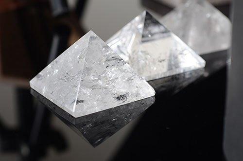 Quartz Crystal Pyramid 1 1/4- 1 - Milky Crystal