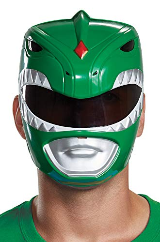 Disguise Men's Green Ranger Adult Mask, One -
