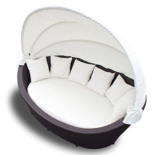 xxl rattan sonneninsel sonnenliege strandkorb gartenmuschel sitzgarnitur gartenliege g nstig. Black Bedroom Furniture Sets. Home Design Ideas