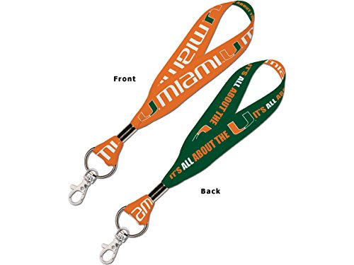 WinCraft NCAA University of Miami (Florida) 67779011 Lanyard Key Strap, 1
