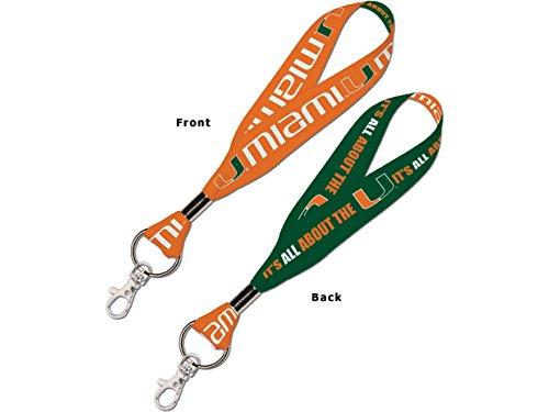 (WinCraft NCAA University of Miami (Florida) 67779011 Lanyard Key Strap, 1