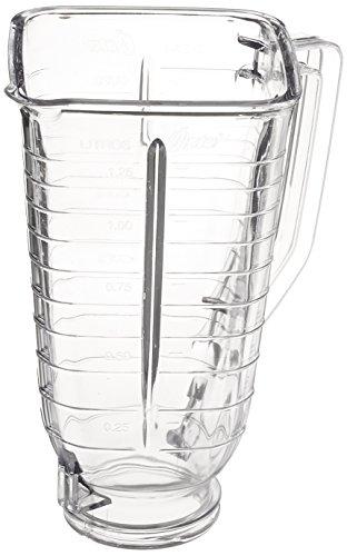Oster 089 Plastic Blender Jar Part Accessory, Clear, Square (Parts Square)