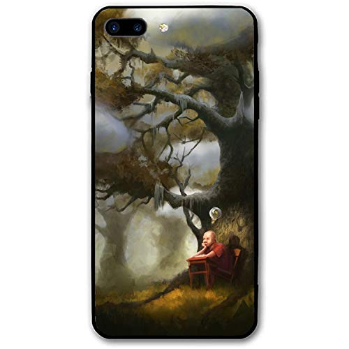 Pupil Idea Lamp Tree Thoughts Art iPhone 8 Plus Case for Girls,Hard PC Case Anti Slip Protective Cover for iPhone 8 Plus 5.5