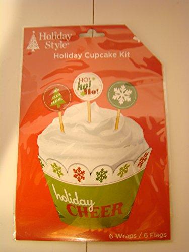 6Holiday/Christmas Holiday Cupcake Kit with Holiday Cheer (2 pk) (Holiday Cheer Stocking)