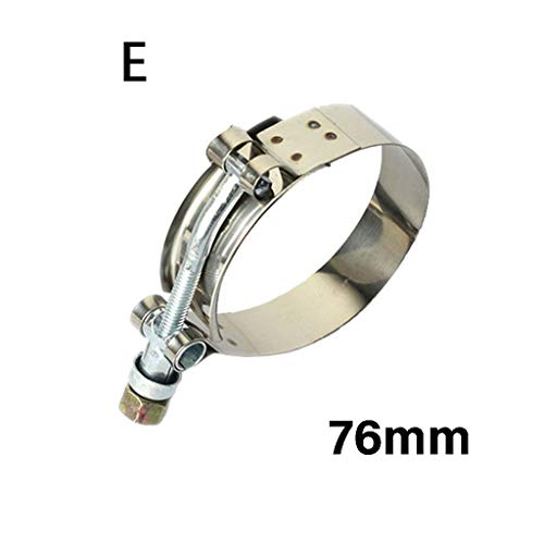AutumnFall Car Repair Tools-T Bolt Clamp T Hose Pipe Clamp Stainless Steel T-Bolt Turbo Silcone Hose Clamp (E)