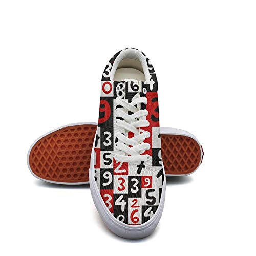 KROT8UTF Unisex Work Shoes Colorful Math Numbers Fashion Lightweight Walking Shoes for Women's Man.Mens -