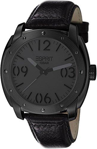 Esprit Baker ES106381004 - Men's Watch, Watch Band Leather Black Tone
