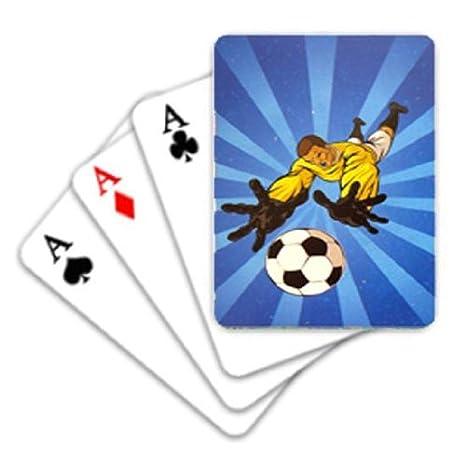 Tema de fútbol Mini Juego de cartas - Pack de 12: Amazon.es ...