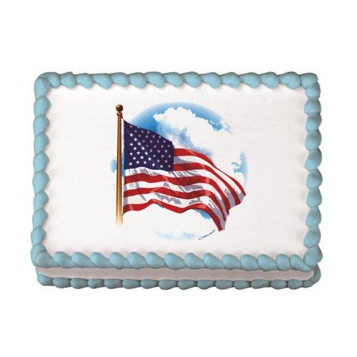 Lucks Edible Image, American Flag, 12 Count -